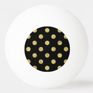 Elegant Gold Foil Polka Dot Pattern - Gold & Black
