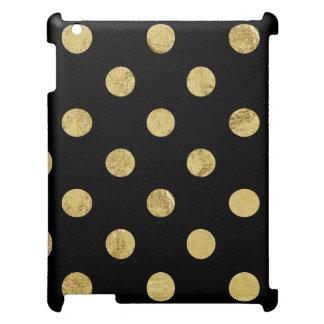 Elegant Gold Foil Polka Dot Pattern - Gold & Black Case For The iPad 2 3 4