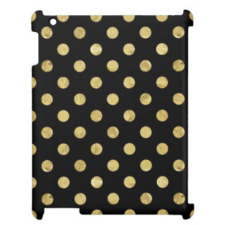 Elegant Gold Foil Polka Dot Pattern - Gold & Black Cover For The iPad 2 3 4