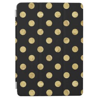 Elegant Gold Foil Polka Dot Pattern - Gold & Black iPad Air Cover