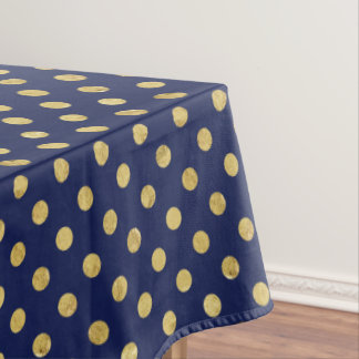 gold polka dots tablecloths