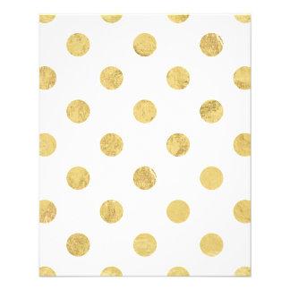 Elegant Gold Foil Polka Dot Pattern - Gold & White 11.5 Cm X 14 Cm Flyer