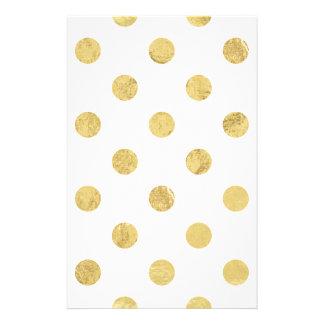 Elegant Gold Foil Polka Dot Pattern - Gold & White 14 Cm X 21.5 Cm Flyer