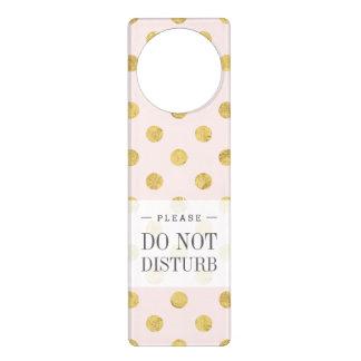 Elegant Gold Foil Polka Dot Pattern - Pink & Gold Door Hanger