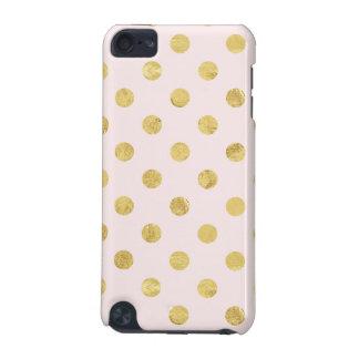Elegant Gold Foil Polka Dot Pattern - Pink & Gold iPod Touch 5G Cases