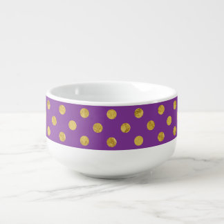 Elegant Gold Foil Polka Dot Pattern - Purple Soup Mug