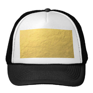 Elegant Gold Foil Printed Mesh Hat