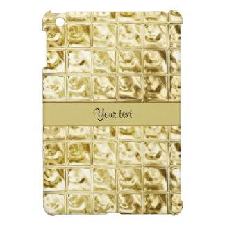 Elegant Gold Foil Squares iPad Mini Case