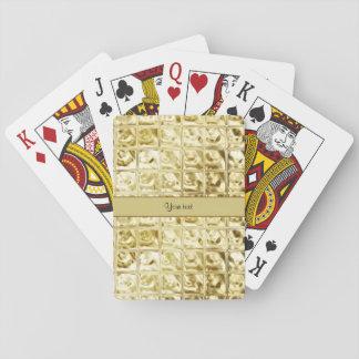 Elegant Gold Foil Squares Playing Cards