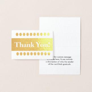 """Elegant Gold Foil """"Thank You!"""" Card"""