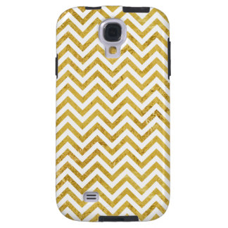 Elegant Gold Foil Zigzag Stripes Chevron Pattern Galaxy S4 Case