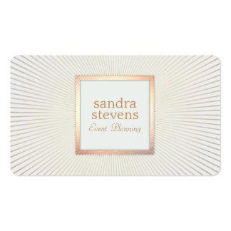 Elegant Gold Frame Event Planner Glamorous Chic Pack Of Standard Business Cards
