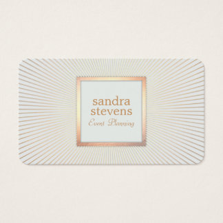 Elegant Gold Frame Event Planner Glamorous Chic Business Card