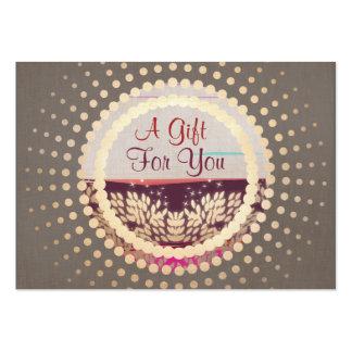 Elegant Gold Framed Horizon Logo Gift Card Pack Of Chubby Business Cards