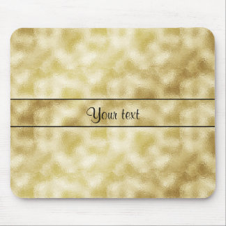 Elegant Gold Frost Mouse Pad