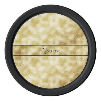 Elegant Gold Frost Poker Chips