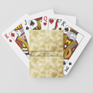 Elegant Gold Frost Poker Deck