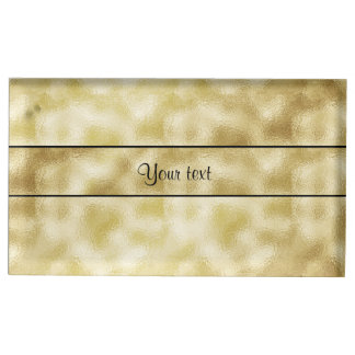 Elegant Gold Frost Table Card Holder