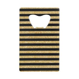 Elegant Gold Glitter and Black Stripe Pattern