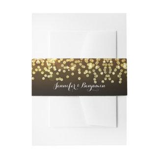 Elegant Gold Glitter Diamonds Wedding Invitation Belly Band