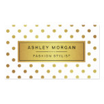 Elegant Gold Glitter Polka Dots Pack Of Standard Business Cards