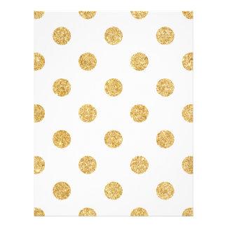 Elegant Gold Glitter Polka Dots Pattern 21.5 Cm X 28 Cm Flyer
