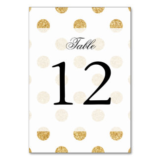 Elegant Gold Glitter Polka Dots Pattern Card