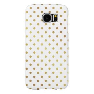 Elegant Gold Glitter Polka Dots Pattern Samsung Galaxy S6 Cases