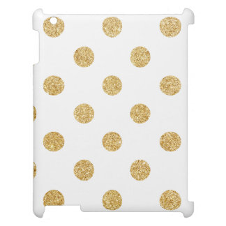 Elegant Gold Glitter Polka Dots Pattern Cover For The iPad
