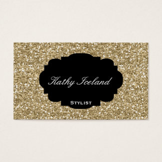 Elegant gold glitter stylist business card