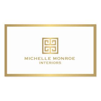 Elegant Gold Greek Key Interior Designer Pack Of Standard Business Cards