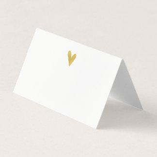 Elegant Gold Heart Wedding Place Cards