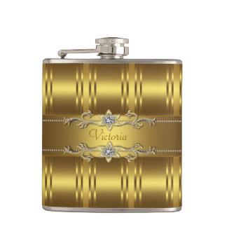 Elegant Gold Hip Flask