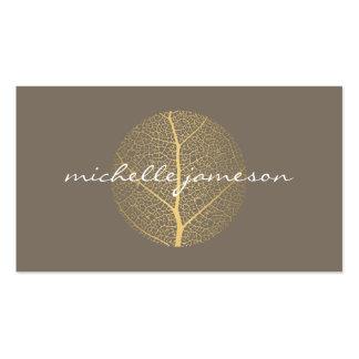 Elegant Gold Leaf Logo on Taupe Pack Of Standard Business Cards