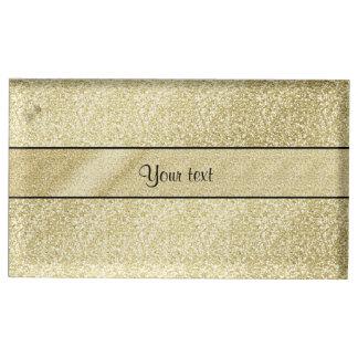 Elegant Gold Leaf Table Card Holders