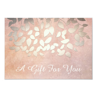Elegant Gold Leaves Salon and Spa Gift Certificate 9 Cm X 13 Cm Invitation Card