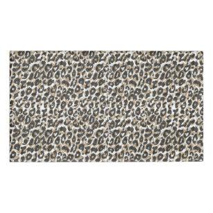 Elegant Gold Leopard Animal Print Pattern Name Tag