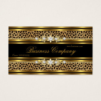 Elegant Gold Leopard Black ORNATE Best Business Card