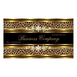 Elegant Gold Leopard Black ORNATE Best Pack Of Standard Business Cards