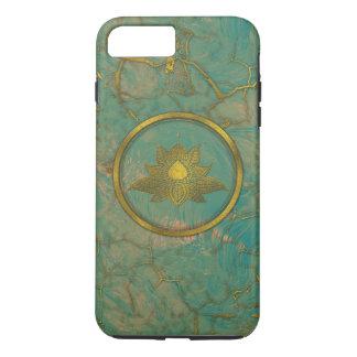 Elegant  Gold Lotus flower on marble iPhone 8 Plus/7 Plus Case