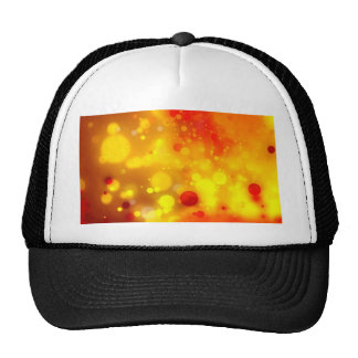 Elegant Gold Luxe Red and Yellow Watercolor Cap