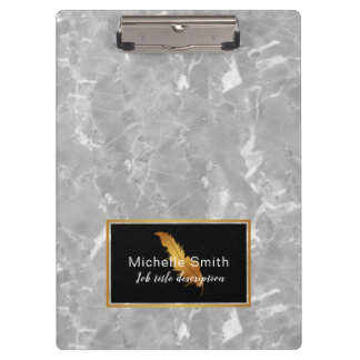 Elegant gold marble clip board
