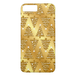 Elegant Gold Metallic Christmas Tree iPhone Case