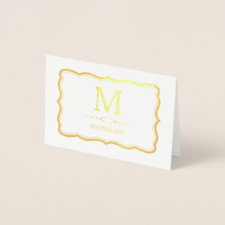 Elegant Gold Monogram Foil Card