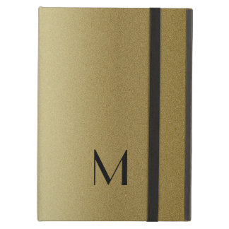 Elegant Gold Monogram Initial iPad Air Case