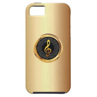 Elegant Gold Music Symbol iPhone 5 Case