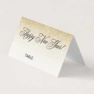 Elegant Gold New Years Eve Wedding Place Card