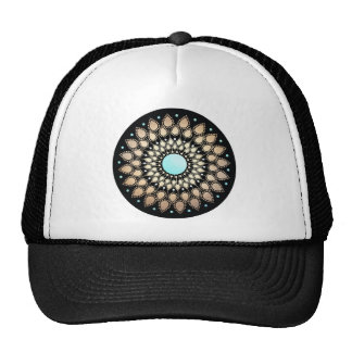Elegant Gold Ornate Lotus Mandala Cap