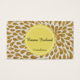 Elegant gold pattern business card