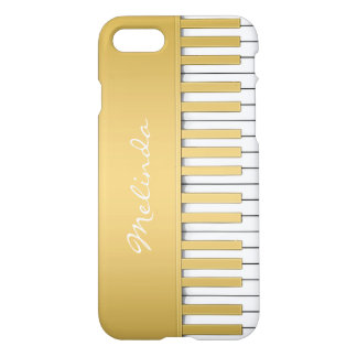Elegant Gold Piano Keyboard Music iPhone Case